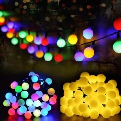 Ledreyon - 10 Metre Dekoratif Dış Mekan Top Led Işık - Yılbaşı Işığı - İp led