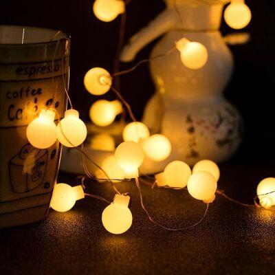 2 Metre Pilli Dekoratif Top Led Işık Süs