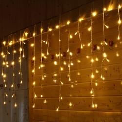 Ledreyon - 2x1 Metre İç Mekan Saçak İp Perde Led Işık Yılbaşı Süs