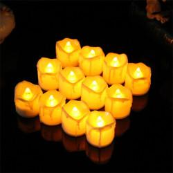 Ledreyon - 5 Adet Pilli Mum Led Işık - Akar Görüntülü
