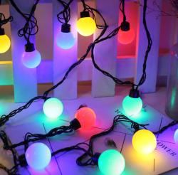 5 Metre Dekoratif Dış Mekan Top Led Işık - Yılbaşı Işığı - İp led - Thumbnail
