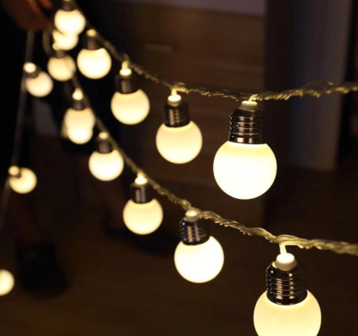 5 Metre Dekoratif Dış Mekan Top Led Işık - Yılbaşı Işığı - İp led