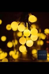 5 Metre Güneş Enerjili Solar Dış Mekan İp Top Led Işık Dekoratif Aydınlatma - Thumbnail
