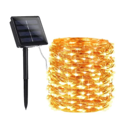 Ledreyon - 5 Metre Güneş Enerjili Solar Dış Mekan Peri İp Led Işık