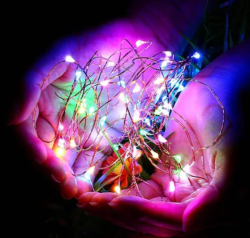 5 Metre Mantar Tıpalı Pilli Peri Led Tel Led Işık - Thumbnail