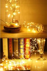 Dekoratif 5 Metre Pilli Peri Led Tel Led Işık - Peri Led Süs - İp Led - Thumbnail