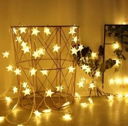 Dekoratif 5 Metre 50 Yıldızlı ip Led Işık Dekoratif Süs Yıldız Led - Thumbnail