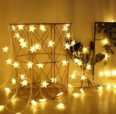 Dekoratif 5 Metre 50 Yıldızlı ip Led Işık Dekoratif Süs Yıldız Led