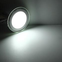 7W Camlı Sıva Altı Yuvarlak Led Spot Panel - Thumbnail