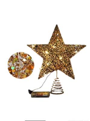 Led Işıklı Yılbaşı Ağacı Tepe Yıldızı Yılbaşı Süsleri Gold