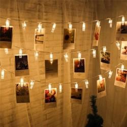 Ledreyon - Mandallı İp Led Işık Fotoğraf Asma Ledi