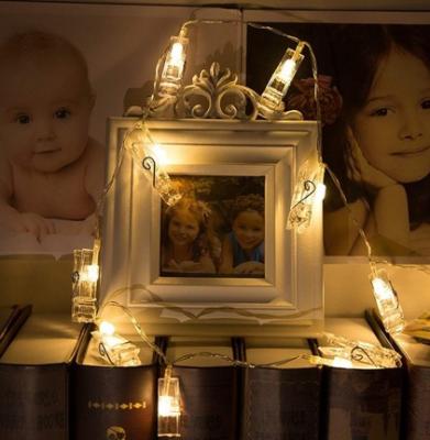 Mandallı İp Led Işık Fotoğraf Asma Ledi