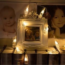 Mandallı İp Led Işık Fotoğraf Asma Ledi - Thumbnail